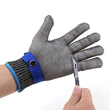 New Products Stainless Steel Gloves Metal Wire Mesh Cut Resistant Gloves Machanic Work Butchers Security Safety Glove
