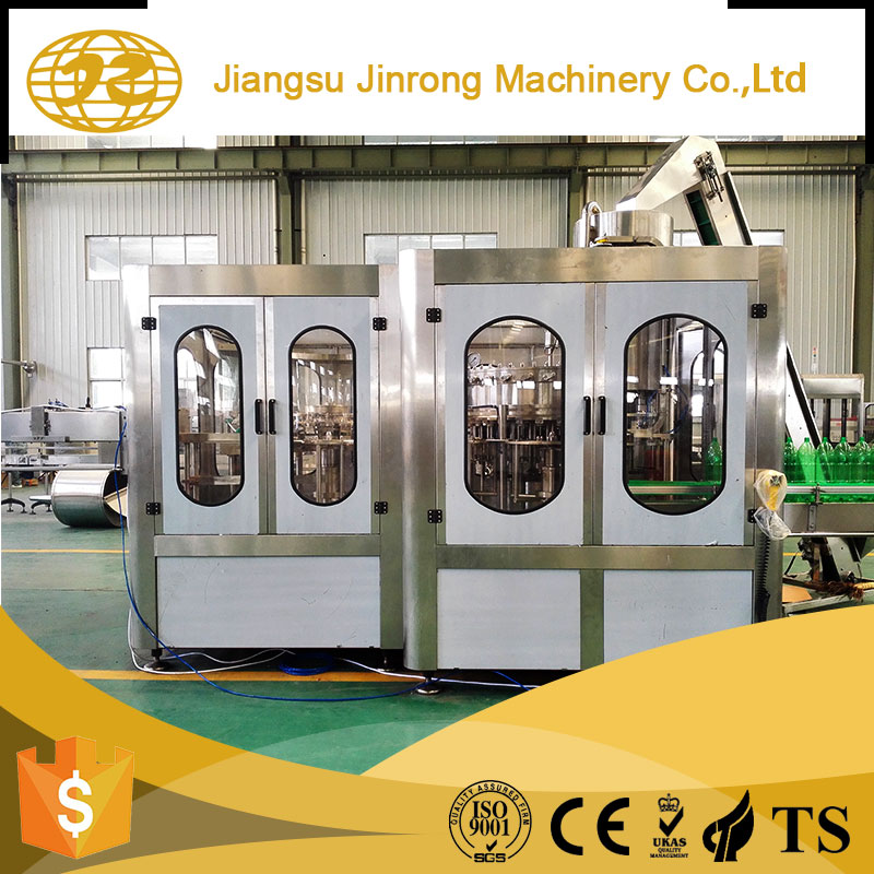 China supplier soda water automatic bottle washing filling capping machine