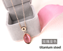 Superstar Accessories Jewelry 316l Stainless Steel Pink Opal Pendant Gold Necklace