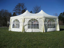 Heavy duty white polyester Gazebo Canopy with double peak