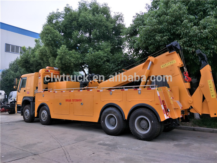 Heavy Duty HOWO 16 Tons Wrecker Truck with 20 Tons Crane for Sale in South America