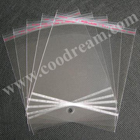 Free Shipping 6x12cm 2000pcs/pack self-adhesive clear Bopp Opp Plastic Bags with hang hole