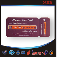 MDC855 Plastic keychain cards