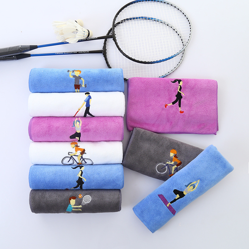 Pure cotton sweat absorption quick drying sports towel