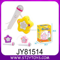 cute small star microphone toy for kids made in chenghai