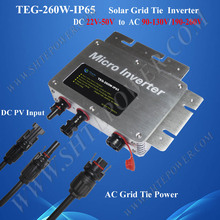 260W IP65 Waterproof On Grid Tie Micro Solar Inverter With MPPT and Communication Function