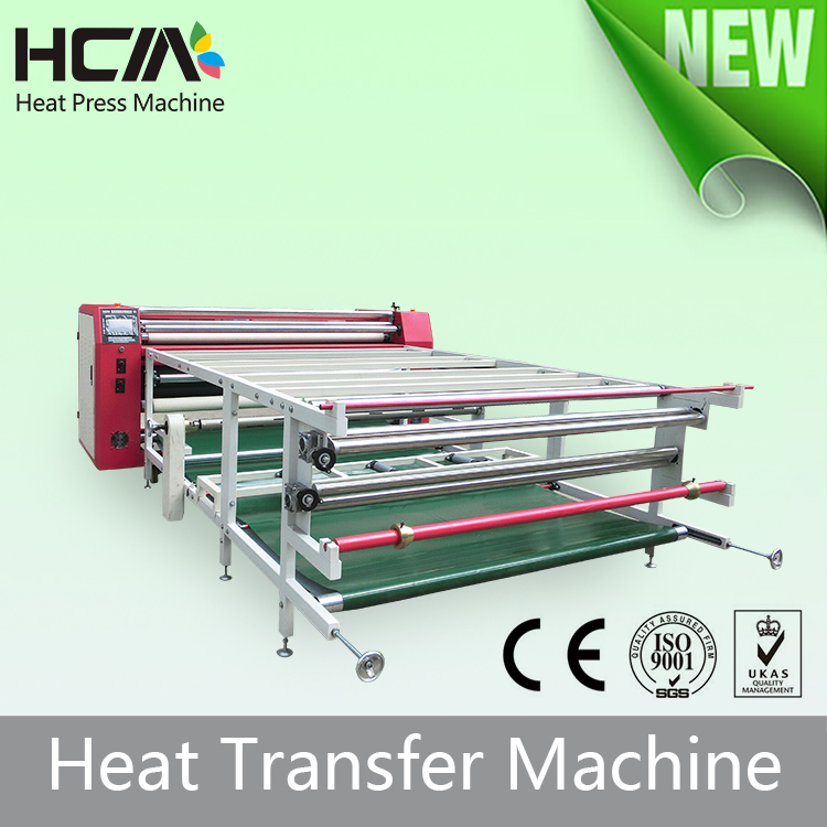 Winder function roller sublimation heat transfer roller printing machinery for textiles