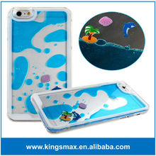 Transparent cover for iphone 6, Liquid fish hard case, for iphone 6 clear cover