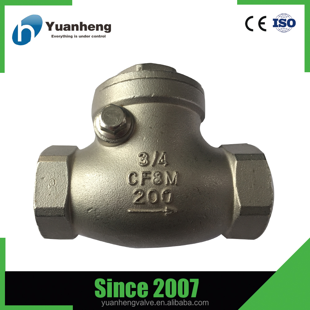 Female thread CF8 one way valve for water treatment