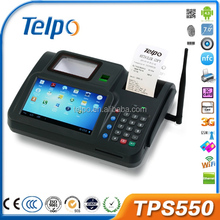 TPS550 top 10 magnetic card android Biometrics pos terminal