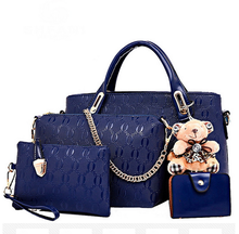 Wholesale Professional PU lady handbag / woman handbag for office and shopping 4pc