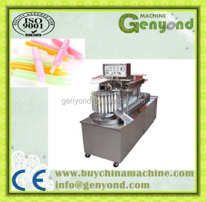 Automatic jelly sucker tube filling machine / ice lolly tube filling and sealing machine