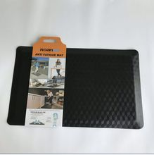 custom office floor pad anti-fatigue self-skinning pu kitchen mat with embossed leaf printing20*32""