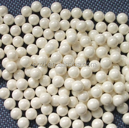 Cosmetic and pigment use 5mm,6.5mm,10mm,12mm yttria stabilized zirconia white ceramic ball/beads