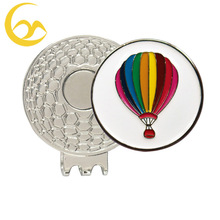 Magnetic golf hat clip with fire balloon ball marker
