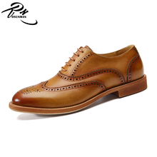 High class calf leather men leather dress shoes, new fashion men shoes genuine leather