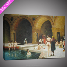 Middle East Modern Art Classical Baths Full Sexy Photos Nude Girls Handmade Oil Painting