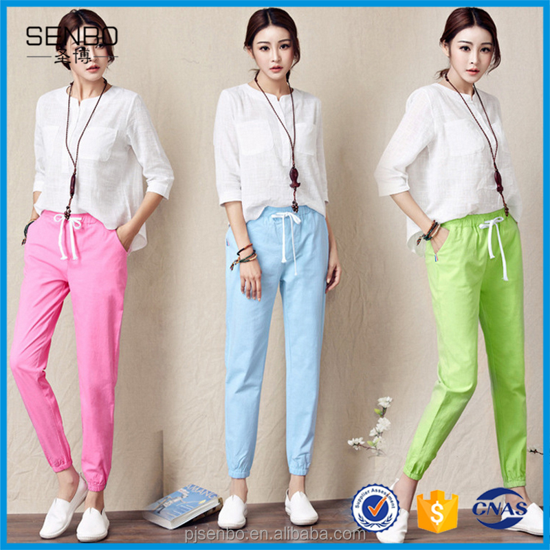 Wholesale Women Cotton Ruffle Open Crotch Tracksuit Pants