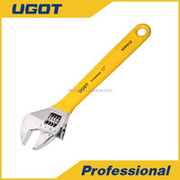 YFP 10 Inch Hand Tool Vinyl Grip Adjustable Wrench Tool