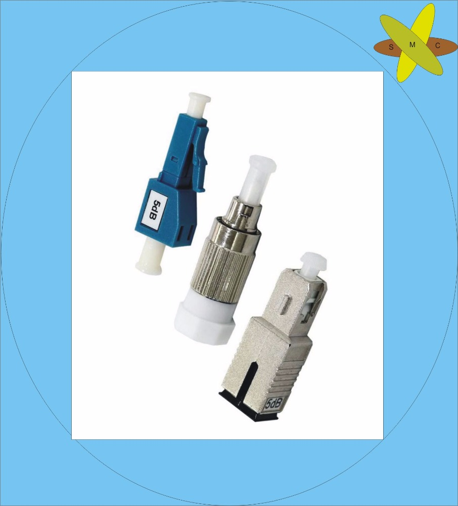 Precious Dimension 3dB 5dB Female and Male FC/SC/LC Fiber Optic Attenuator
