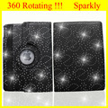 Leather Case for iPad mini 2 Case for iPad 5 Cover Rotating 360 Magnetic Sparkly Style Crystal Diamdond Luxury Case Bling
