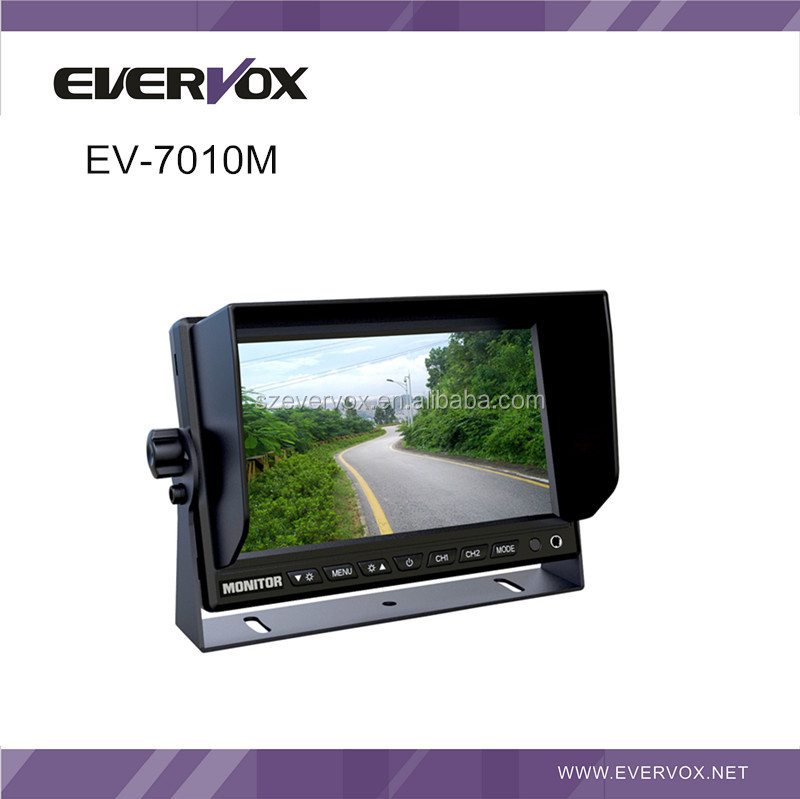7 inch standing monitor with high definition and 2 video 2 audio input