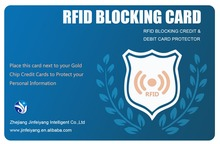RFID blocking card for protecting your ID and credit card