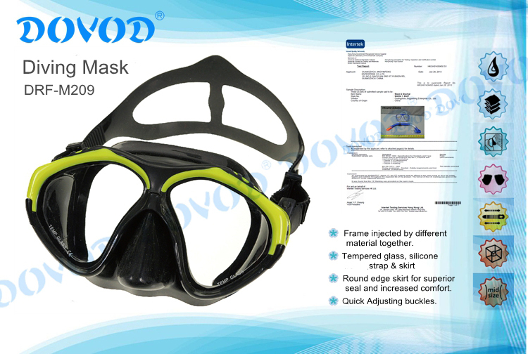 Silicone or PVC material diving mask swimming equipment scuba diving equipments