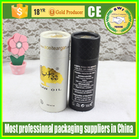 Disposable rolled edge paper cookies tube with plastic lid