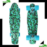 22 inch wooden Skateboard with green deck for girl