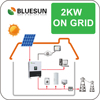 Bluesun easy installation 2kw solar power system for home use
