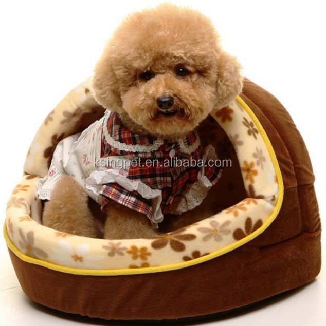 plush animal shaped pet bed