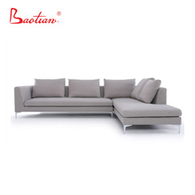 newest furniture Foshan factory made sectional corner fabric design sofa for household