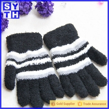 Fashion microfiber knitted fingerless magic glove