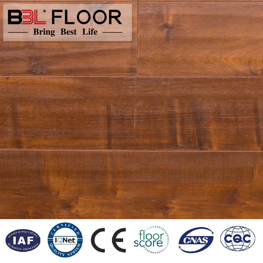 ISO9001 ISO14001 CE CQC floorscore Certify BBL made wooden laminate flooring india