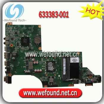 633383-001 motherboard for HP DV6-3000 with I3-370M CPU