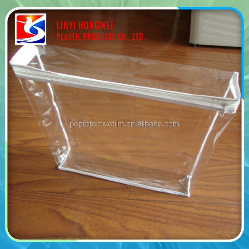 Clear Plastic Pouch_PVC zipper bag