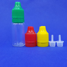 clear ecigs dripper bottle with childproof and tamper proof cap / dripper bottle with long thin tip