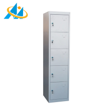 Commercial changing room KD structure powder coated steel 5 door locker