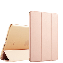 PU Leather Case for iPad Air 2 and 1 (iPad 6 and 5) Folio Flip Stand Smart Case with Auto Sleep / Wake Function