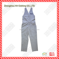 white cotton grinding wool multi pocket bib overalls