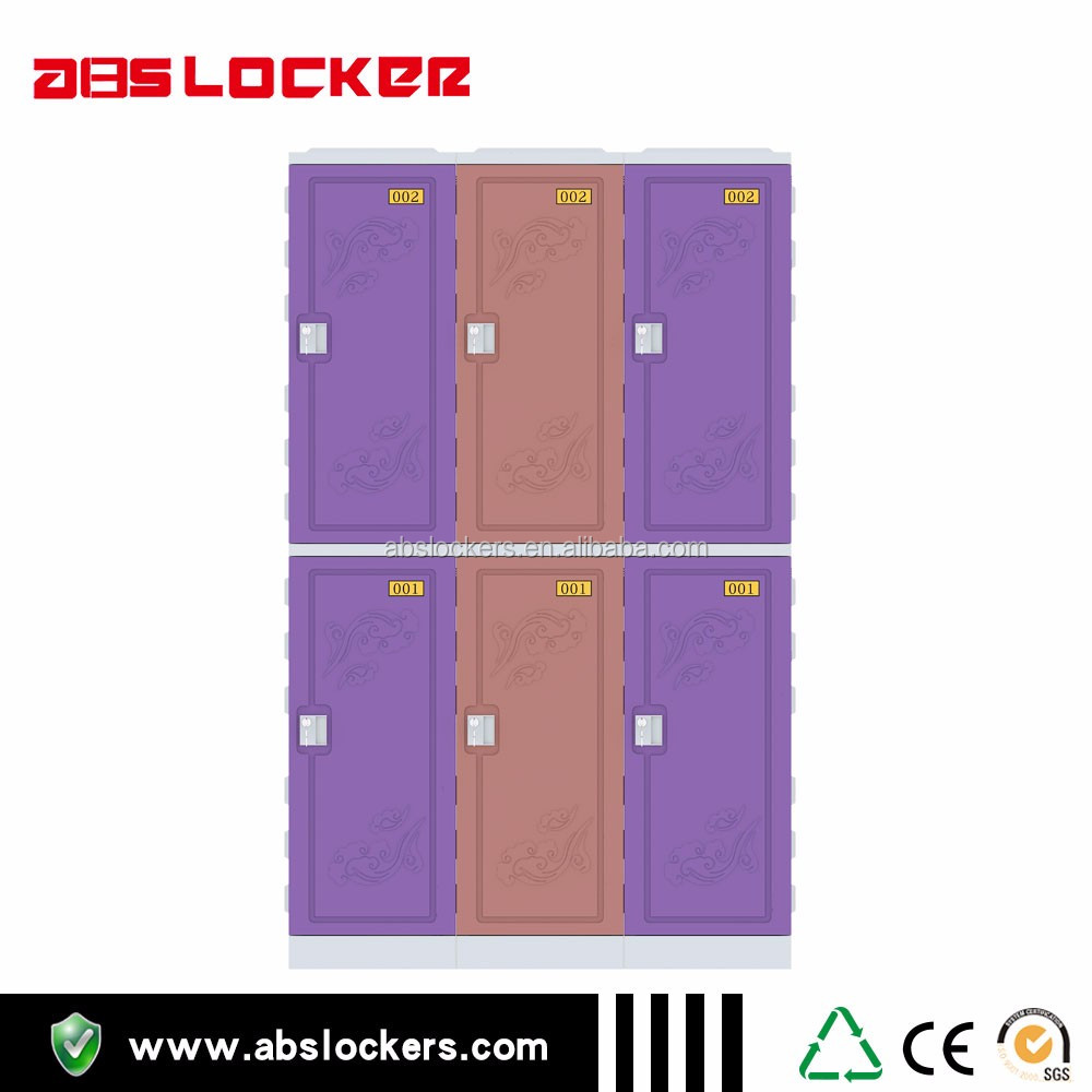 OEM orange plastic electronic locker for school