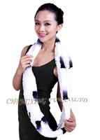 CX-S-155Y Hot Fashion Wholesale Price Genuine Rex Rabbit Fur Scarf
