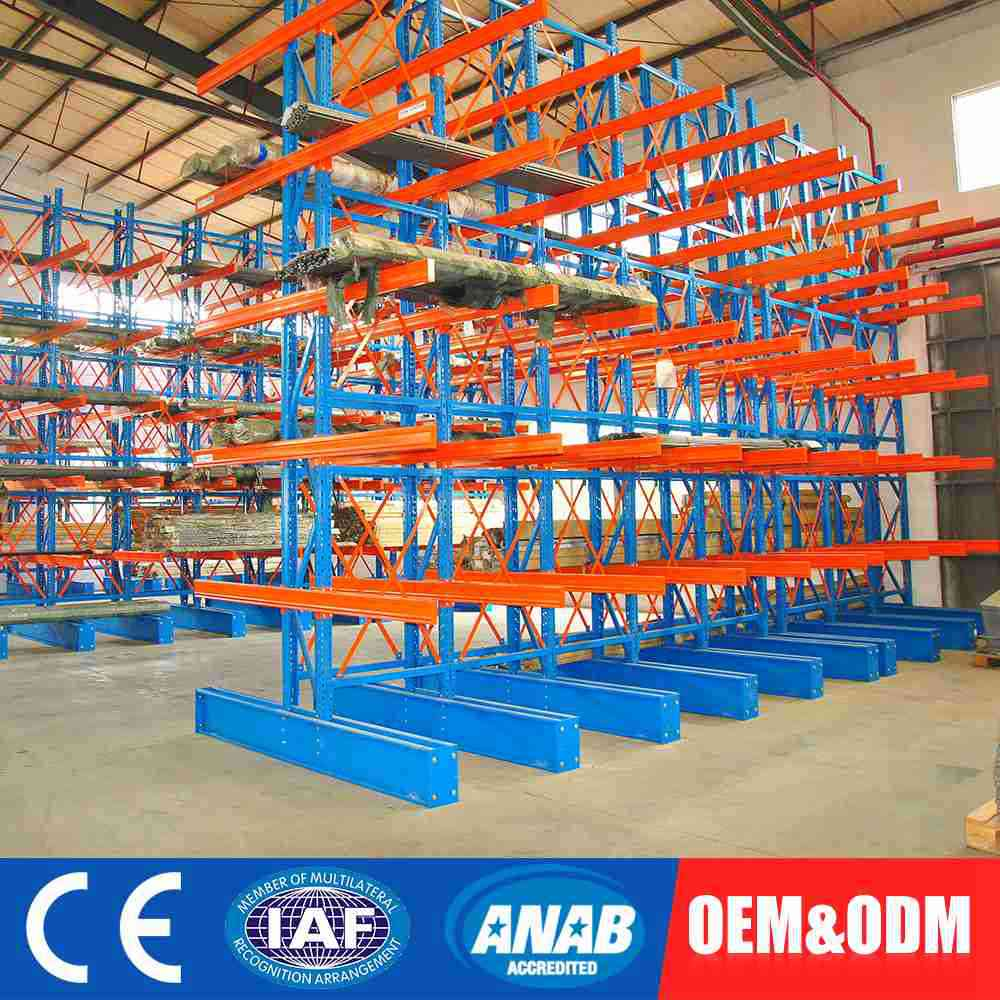 Single or double side warehouse cantilevered racking/arm cantilever rack