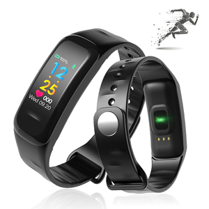 Color Display Smart Bracelet with Heart Rate Monitor Blood Pressue Bluetooth 4.0 Smart wristband For iOS Android