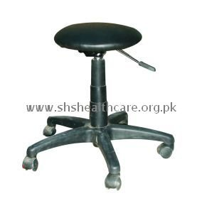 Revolving Stool, Cushioned Seat