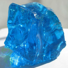 Natural Slag Light Blue Colored Glass Landscaping Rock for Home Decoration