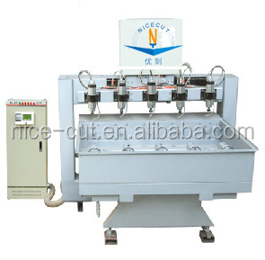 NC-2412 cylinder ROTARY wood 4 axis CNC Router for furniture wood leg engraving with 12 heads