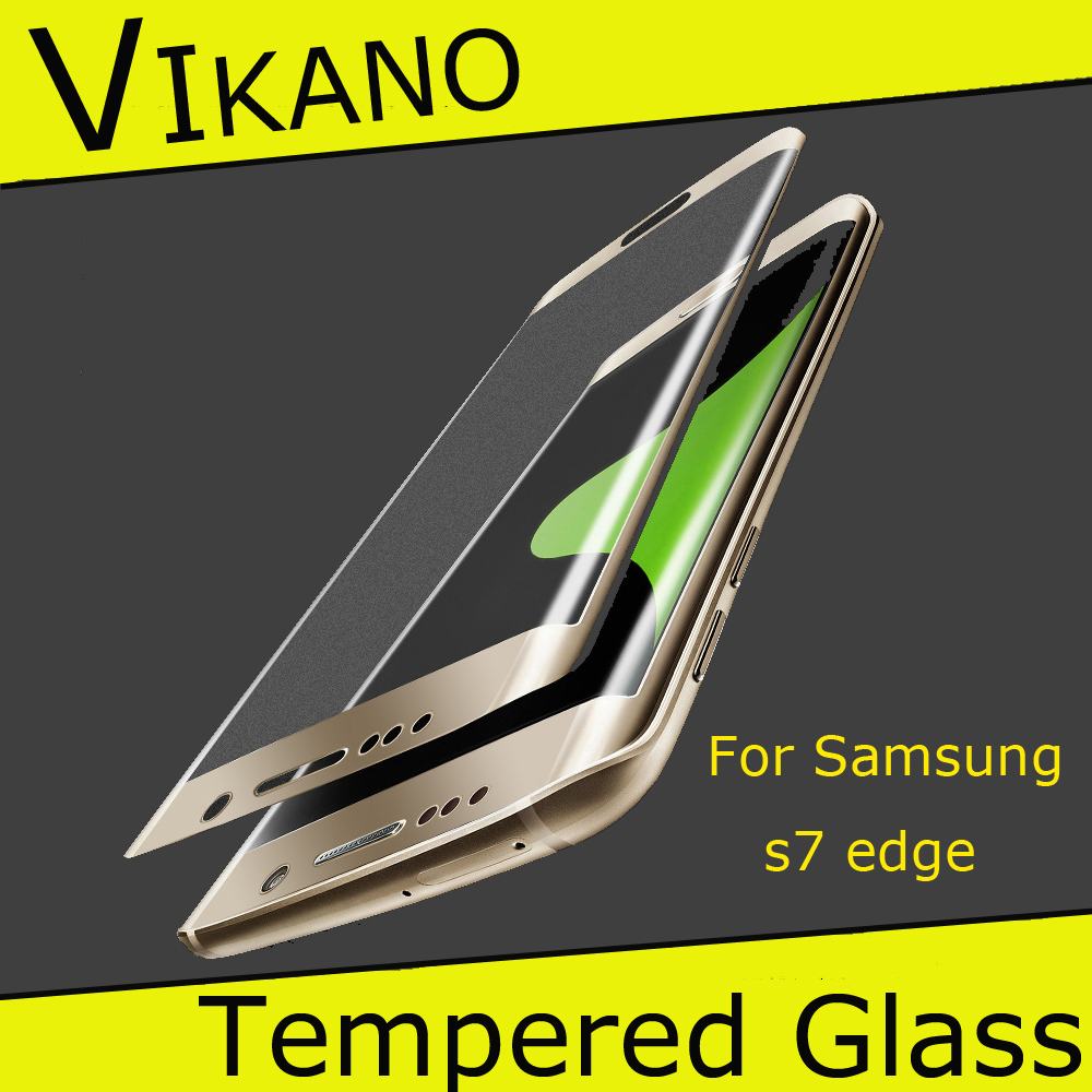 9H 0.33mm Round Edge Tempered Glass Screen Protector For Samsung Galaxy S7 / S7 Plus / S7 Edge