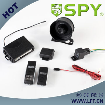 Hot selling one way car alarm system with central locking relay